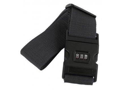 Bezpečnostní popruh na kufr s kódovým zámkem Bordlite WBAC02 - černá