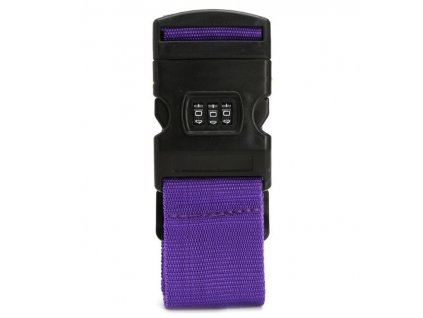 Bezpečnostní popruh na kufr s kódovým zámkem Bordlite WBAC02 - fialová
