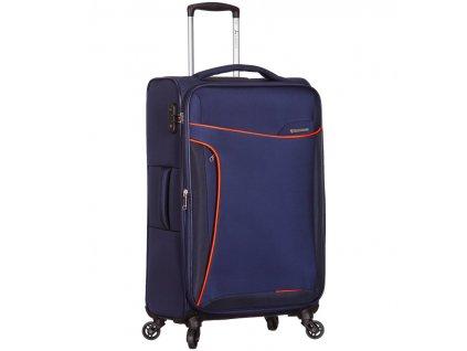 Cestovní kufr SIROCCO T-1201/3-M - modrá  + Pouzdro zdarma