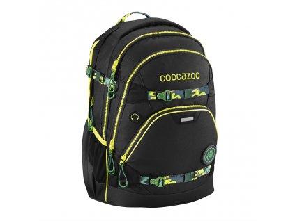 Školní batoh Coocazoo e-ScaleRale TecCheck s elektronicky nastavitelným bederním popruhen, Black  + Sportovní láhev + Pouzdro