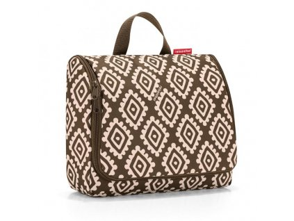 129206 3 reisenthel toiletbag xl diamonds mocha