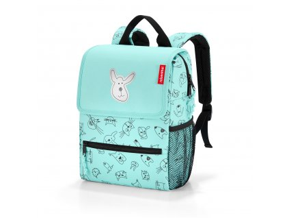 173639 reisenthel backpack kids cats and dogs mint