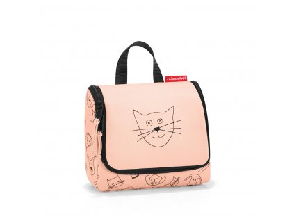 178217 reisenthel toiletbag s kids cats and dogs rose