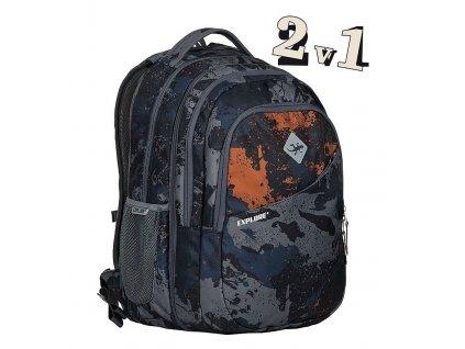 179003 studentsky batoh 2v1 daniel camouflage