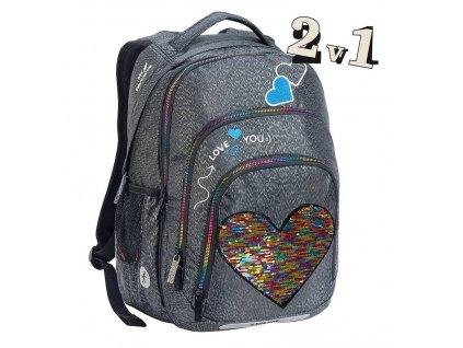 178031 skolni batoh 2v1 bar big heart