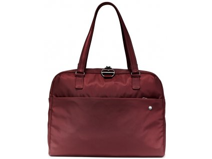 181730 pacsafe taska citysafe cx slim briefcase merlot