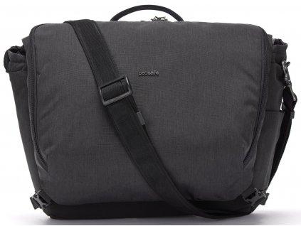 181838 pacsafe taska intasafe x 13 laptop messenger black