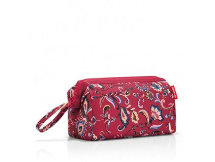 182216 reisenthel travelcosmetic paisley ruby
