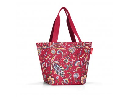 182696 reisenthel shopper m paisley ruby