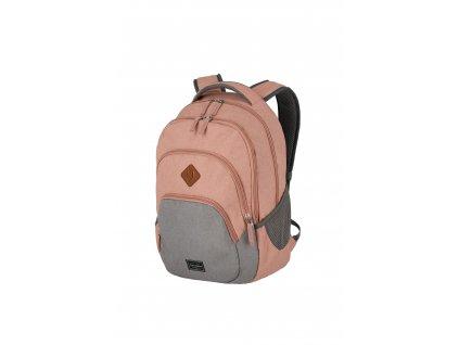 186110 travelite basics backpack melange rose grey