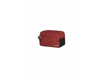 187073 travelite kick off cosmetic bag red