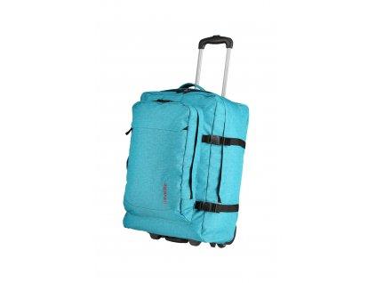 187052 travelite basics trolley backpack turquoise print