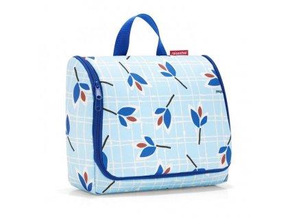 191342 reisenthel toiletbag xl leaves blue