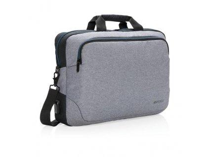 """XD Design, Arata, taška na notebook 15"""", P762.182, šedá"""