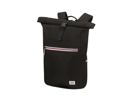 204947 american tourister upbeat rolltop lapt bp 14 1 zip black 24 29l