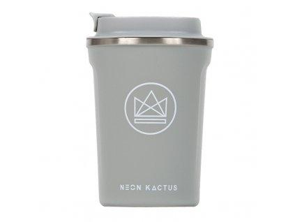 Neon Kactus Designový termohrnek, 380 ml šedý