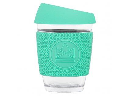 Neon Kactus Skleněný hrnek na kávu, M, 340 ml zelený
