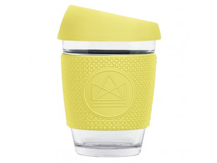 Neon Kactus Skleněný hrnek na kávu, M, 340 ml žlutý