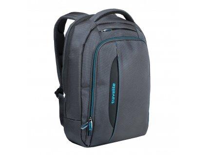 Travelite Crosslite Backpack Slim Anthracite 16 l  + Pouzdro zdarma