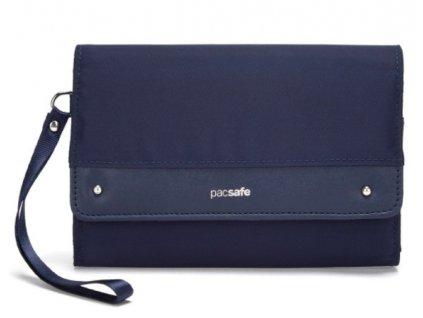 PACSAFE peněženka RFIDSAFE CLUTCH WALLET nightfall