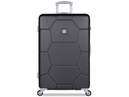 Cestovní kufr SUITSUIT® TR-1261/3-L ABS Caretta Jet Black  + Pouzdro zdarma