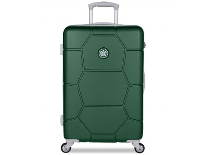 Cestovní kufr SUITSUIT® TR-1262/3-M ABS Caretta Jungle Green  + Pouzdro zdarma