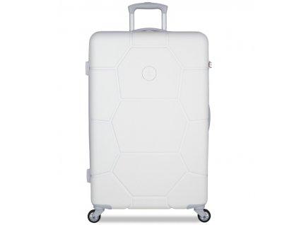 Cestovní kufr SUITSUIT® TR-1265/3-L ABS Caretta Whisper White  + Pouzdro zdarma