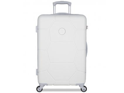 Cestovní kufr SUITSUIT® TR-1265/3-M ABS Caretta Whisper White  + Pouzdro zdarma