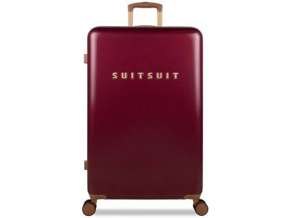 Cestovní kufr SUITSUIT® TR-7111/3-L - Classic Biking Red  + Pouzdro zdarma