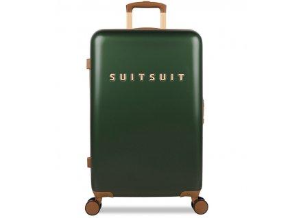 Cestovní kufr SUITSUIT® TR-7121/3-M - Classic Beetle Green  + Pouzdro zdarma