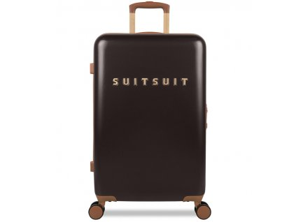 Cestovní kufr SUITSUIT® TR-7131/3-M - Classic Espresso Black  + Pouzdro zdarma