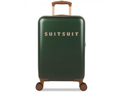 Kabinové zavazadlo SUITSUIT® TR-7121/3-S - Classic Beetle Green  + Pouzdro zdarma