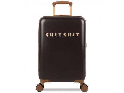 Kabinové zavazadlo SUITSUIT® TR-7131/3-S - Classic Espresso Black  + Pouzdro zdarma