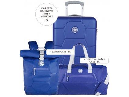 Cestovní set SUITSUIT® Caretta Dazzling Blue S  + Pouzdro zdarma