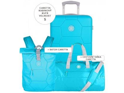 Cestovní set SUITSUIT® Caretta Peppy Blue S  + Pouzdro zdarma