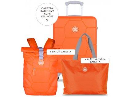 Cestovní set SUITSUIT® Caretta Vibrant Orange S  + Pouzdro zdarma