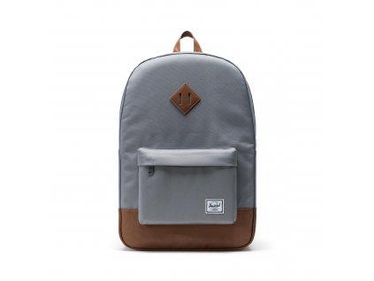 Herschel Heritage Grey/Tan Synthetic Leather 21,5L  + Pouzdro zdarma