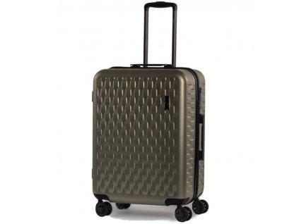 Cestovní kufr ROCK TR-0192/3-M ABS/PC - zlatá  + Pouzdro zdarma