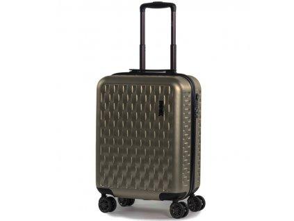 Kabinové zavazadlo ROCK TR-0192/3-S ABS/PC - zlatá  + Pouzdro zdarma