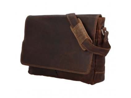 Green Wood Luxusní pánská kožená taška Entonio khaki  + Pouzdro zdarma