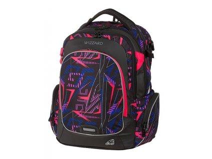 Studentský batoh WIZZARD Neon  + Pouzdro zdarma