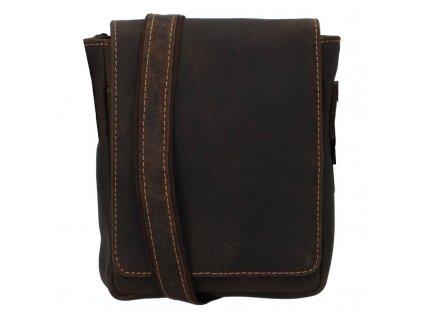 Green Wood pánská kožená taška crossbody Jimmy Joano hnědá  + Pouzdro zdarma