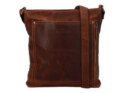 Green Wood pánská kožená taška crossbody Fox  + Pouzdro zdarma