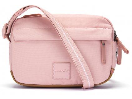 PACSAFE taška GO CROSSBODY sunset pink  + Pouzdro zdarma