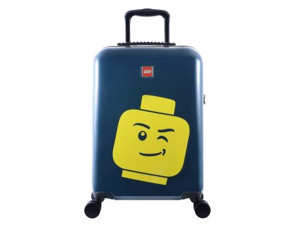 "LEGO Luggage ColourBox Minifigure Head S 20"" - Námořnická modř  + Pouzdro zdarma"
