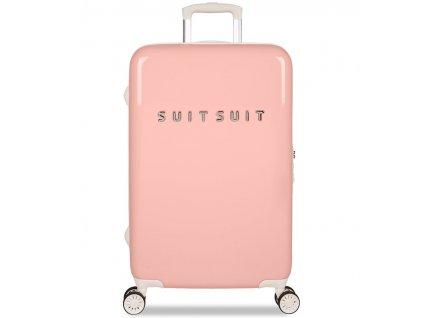 Cestovní kufr SUITSUIT® TR-1202/3-M - Fabulous Fifties Papaya Peach  + Pouzdro zdarma