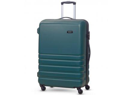 Cestovní kufr ROCK TR-0169/3-L ABS - petrolejová  + Pouzdro zdarma