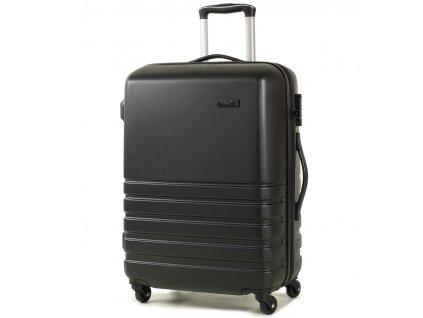 Cestovní kufr ROCK TR-0169/3-M ABS - černá  + Pouzdro zdarma