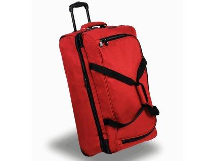 Cestovní taška na kolečkách MEMBER'S TT-0032 - červená  + Pouzdro zdarma