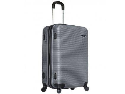 Cestovní kufr SIROCCO T-1039/3-60 ABS - stříbrná  + PowerBanka nebo brašna zdarma